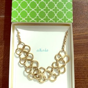 Stella and Dot Gold Ring Loop Statement Necklace
